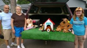 Friends of the Isanti Area Library Parade Display with Scooby Doo